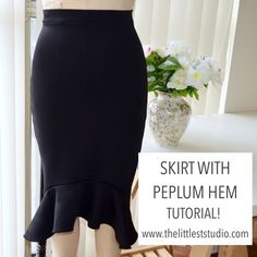 How to sew a skirt with a peplum hem!