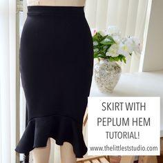 How to sew a skirt with a peplum hem!