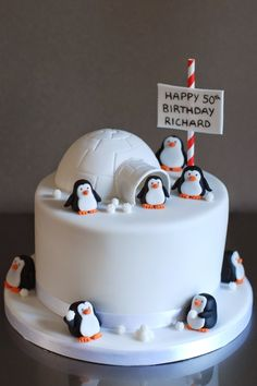 Best Photo of Penguin Birthday Cake Penguin Birthday Cake Penguin Birthday Cake Archives Afternoon Crumbs You are in the right place about pretty Birthday Cake Here we offer yo Birthday Cake 30, Christmas Birthday Cake, Penguin Birthday, Adult Birthday Cakes, Christmas Cakes, Christmas Cake Designs, Christmas Cake Decorations, Winter Torte, Penguin Cakes