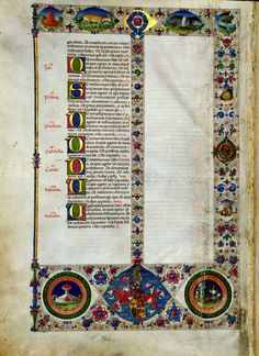 """Go to this site - click """"Read Online"""" and you can zoom in on over 600 pages of AMAZING illumination!!! Bible of Borso d'Este - World Digital Library"""