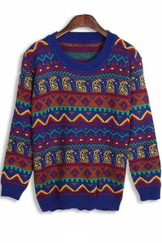Fireside Vintage Sweater OASAP.com