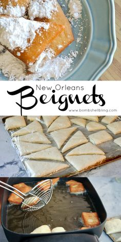 Our family has been making these beignets for special mornings for years! Our family has been making these beignets for special mornings for years! Just Desserts, Delicious Desserts, Yummy Food, Cajun Desserts, Tasty, New Orleans Beignets Recipe, Beignet Recipe, Recipe For Beignets, Breakfast Recipes