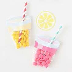 Learn how to make these easy lemonade party favors using chiclet gum & printable labels!