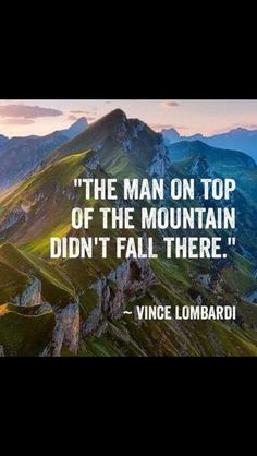 Wise words from Vince Lombardi The Words, Cool Words, Great Quotes, Me Quotes, Motivational Quotes, Inspirational Quotes, Quotes On Hard Work, Motivational Speakers, Happy Quotes