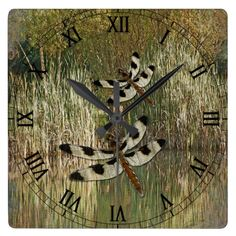 Dragonfly Pond Wall Clock