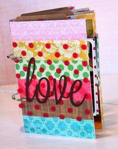 """love"" hodge-podge mini-album by Tracie Claiborne (4x6 + 4x4 pages)"