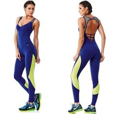 Sexy and stylish Jumpsuit, made with high compression supplex fabric which provides better blood flow and faster muscle recovery. Dance Fashion, Sport Fashion, Fitness Fashion, Retro Fashion, Brazilian Workout, Yoga Dress, What Should I Wear Today, Fitted Jumpsuit, Workout Wear