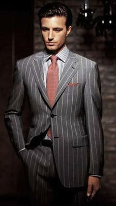 Style & Grooming – Expert Advice and the Latest Fashion Trends Old Man Fashion, Mens Fashion Suits, Sharp Dressed Man, Well Dressed Men, Dress Suits, Men Dress, Suit Combinations, Pinstripe Suit, Suit And Tie