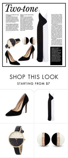 """""""two tone"""" by naomi-logon ❤ liked on Polyvore featuring Wanted and Cushnie Et Ochs"""