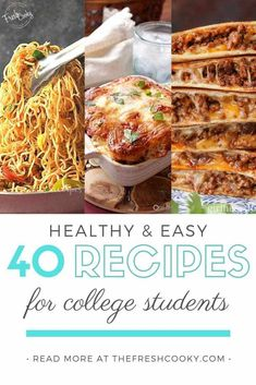 Healthy Recipes for College Students in Apartments is perfect for any college student; not just a foodie! Delicious, nutritious, one pot, make ahead meals. Recipes via The Fresh Cooky Slow Cooker Recipes Cheap, Slow Cooker Sausage Recipes, Microwave Recipes, Oven Recipes, Dinner Recipes, Healthy College Meals, College Cooking, College Recipes, Cheap College Meals