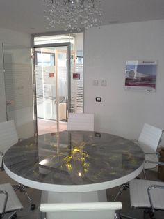tavolo in fibre ottiche #design #light #metfibreottiche