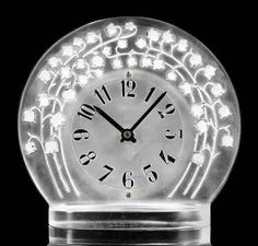 Lalique Marly Clock