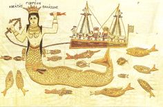 """In this image the mermaid–who does not much resemble """"the little mermaid"""" of recent lore—is identified by the woman who embroidered her as: """"GORGONA, H THEA TIS THALASSIS,"""" MERMAID GODDESS OF THE SEA."""" Assuming that the woman who created this embroidery was probably a Christian, I was surprised to see that she nonetheless referred to the mermaid as a Goddess. Was this phrase passed on to her down to her from pre-Christian times? Did she see any contradiction between her Christian beliefs and…"""