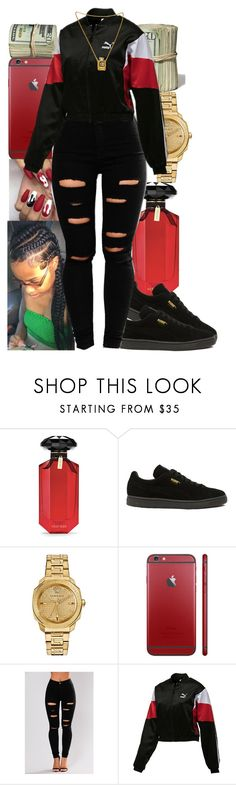 """Red Affair"" by queen-sugah900 on Polyvore featuring Victoria's Secret, Puma, Versace and Chanel"