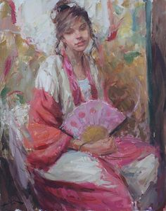 Evelyn by Dan Beck Oil ~ 28 x 22