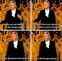 Ellen: It is the hunger games!