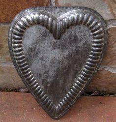 Vintage Metal Heart Chocolate Mold