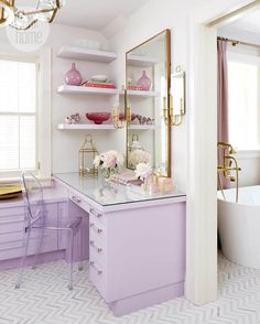 Marcus Design: Lovely in Lavender | A Soothing Master Suite | Dressing Table | Decoration | Vanity Table | Romm | Bedroom | Home | Design