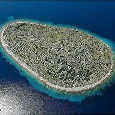 Baljenac island close to Sibenik in North Dalmatia.