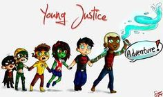 Love how its  Aqualad: Come on guys!    Super boy: Megan If you let go.....       Megan: Okkkk!        Kid Flash: Let go of me!! Now!!!!!  Artemis: I kinda can't you idiot!    and of course Robin: Ummm, Artemis, I'm scared. Please hold my hand. :-*(