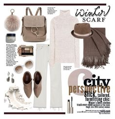 """""""City Perspective"""" by barngirl ❤ liked on Polyvore featuring Yves Saint Laurent, Tom Ford, Valentino, Chloé, Ilia, Oscar de la Renta and Gucci"""