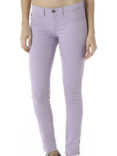 On a chilly night, throw on a pair of pastel jeans. These lavender skinnies (Lamb and Flag Skinny Ankle Zip Jean, $68, lambandflag.com) are flattering, thanks to their cut and subdued color.   - Cosmopolitan.com