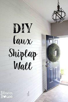 DIY Faux Shiplap Wal