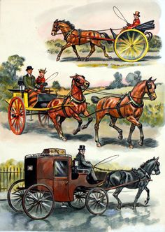 Horses' Heyday 3 by Derek Eyles. The feature depicts how horses were used by man for work and leisure in the days before the internal combustion engine.