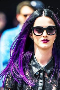 Katy Perry (I want this black/ purple hair one day)