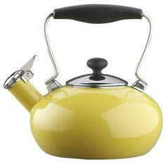 Chantal Yellow Bridge Teakettle - modern - coffee makers and tea kettles - Crate