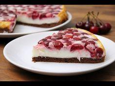 Meggyes-joghurtos torta recept - YouTube Hungarian Cuisine, Sweet Cookies, Home Baking, Recipe Images, Izu, Cupcake Cakes, Cupcakes, Sweet Tooth, Raspberry