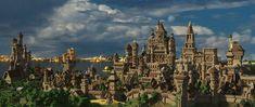 Big Medieval City Vardar Creative Mode Minecraft Discussion Minecraft Forum City Medieval Chateau