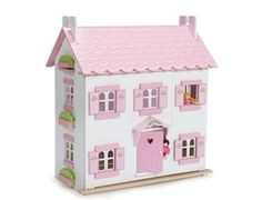 The Le Toy Van Sophies Dolls House is fully decorated inside & out with opening windows, opening shutters, an opening front door and a removable roof with upper floor (3 floors in total).    It is very easy to slot together and assemble. The dolls and dolls house furniture are sold separately.