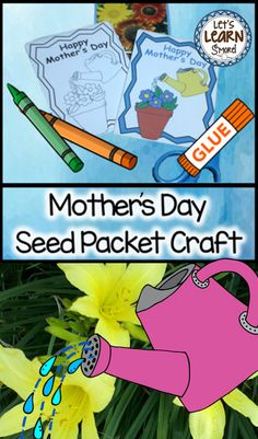 Mother's Day Seed Packet Craft & Bookmarks – Find Your St Patrick's Day Activities St Patricks Day Crafts For Kids, Mothers Day Crafts, Crafts For Seniors, Crafts For Teens, Carpe Diem, Mother's Day Activities, Holiday Activities, May Activity, Seed Craft