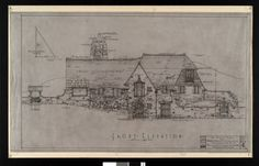 """Presentation rendering for Dr. Donald C. Balfour residence """"Cairnbrae,"""" Rochester, Minnesota :: Olmsted County Historical Society"""
