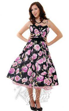 LOVE!!! Retro Glam - Unique Vintage 50's Pink Floral Swing Dress $79
