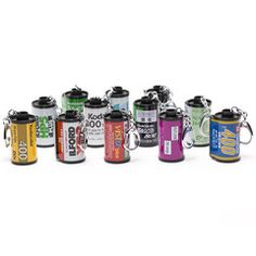 Don't let all of those empty film canisters go to waste! Each recycled film canister key chain is hand made in Japan from a great selection of film brands. Each...