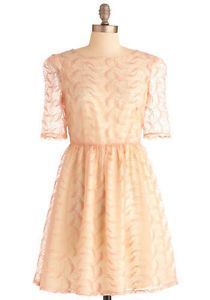 MODCLOTH-Embroidered-Pink-Bubblegum-Princess-Dress-NWOT-S