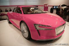 let's go for a ride, not in the pink cadillac but, the pink sports car?  Very Nice!