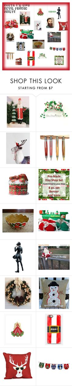 """""""Santa I'm Nice Until Proven Guilty"""" by pippinpost on Polyvore featuring interior, interiors, interior design, home, home decor, interior decorating, Sebastian Professional, Casetify and Talking Tables"""