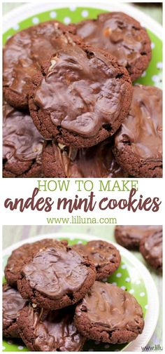 Andes mint cookies are chocolate and mint perfection. The best part is they are crazy quick & easy to make!! #andesmintcookies #chocolateandmint #chocolatemintcookies #cookierecipe #cookies Andes Mint Cookies, Chocolate Mint Cookies, Chocolate Cake Mixes, Delicious Chocolate, New Recipes, Cookie Recipes, Cake Mix Cookies, No Bake Treats, Holiday Baking