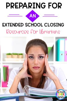 Preparing for an Extended School Closing - Resources for School Librarians - Staying Cool in the Library - - Resources, tips, ideas and lesson plans to help elementary school librarians who are preparing for an extended school closing for conronavirus. Library Week, Library Skills, Online Library, Free Library, Library Ideas, Library Rules, Future Library, Middle School Libraries, Elementary School Library