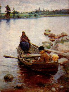 Kuva albumissa EERO JÄRNEFELT - Google Kuvat. Savolaisvene 1888, Taidemuseo- HÄMEENLINNA.