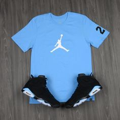 Air #Jordan 6 University Blue Collection: Pick up the new Jumpman Logo Tee in stores now.