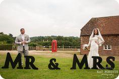 Mr & Mrs wedding signs!