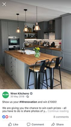 Small Kitchen Remodel Ideas to Make the Most of Your Space - Easy DIY Guide Kitchen Diner Extension, Open Plan Kitchen Diner, Galley Kitchen Design, Open Plan Kitchen Living Room, Kitchen Dining Living, Modern Kitchen Design, Home Decor Kitchen, Kitchen Interior, Home Kitchens