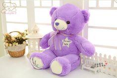Hot Sell 1pcs 45cm Cheap Purple Teddy Bear Plush Animal Stuffed Toy for grilfriend as brithday gift mini plush teddy bear $10