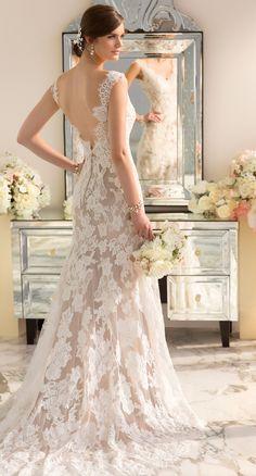 A romantic, lace Essence of Australia gown (D1639) at Destiny's Bridal