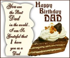 7 Best Birthday Wishes For Best Father Images On Pinterest