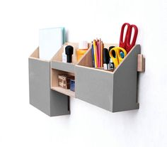 Paper organizer, Wall hanging, pen holder, Paper holder, home organizer, Modern hanging box, Wood wall organizer, wall organizer, office organization, desk accessories, grey office set, gray desk organizer, grey decor  This Hanging Orange wooden organizer is create to provide you with a functional solution for your all small objects, papers and mail. You have always your desk organizer clean of pens, drawing tools and your papers, documents or mail envelopes. It´s beautiful hand crafted set…